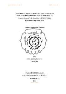 FAKULTAS PERTANIAN UNIVERSITAS SEBELAS MARET SURAKARTA 2012