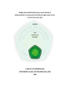 FAKULTAS PSIKOLOGI UNIVERSITAS ISLAM NEGERI MALANG