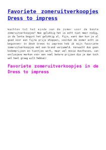 Favoriete zomeruitverkoopjes Dress to impress