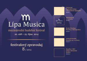 festivalový zpravodaj. mezinárodní hudební festival. 20. září 25. října Závěrečný festivalový týden s Gerhardem Oppitzem