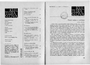 ffi ROČNÍK l 1967 ČÍSLO 3 G. Horák, Všetci máme a môžeme Hlasy kultúrnych pracovníkov Z. Jesenská 68