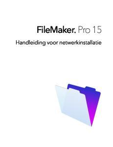 FileMaker Pro 15. Handleiding voor netwerkinstallatie