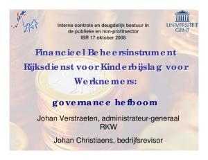 Financieel Beheersinstrument Rijksdienst voor Kinderbijslag voor Werknemers: governance hefboom