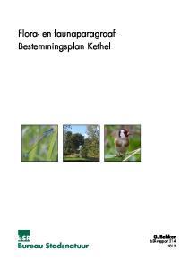 Flora- en faunaparagraaf Bestemmingsplan Kethel