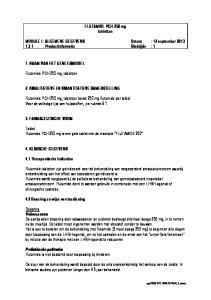 FLUTAMIDE PCH 250 mg tabletten. MODULE I : ALGEMENE GEGEVENS Datum : 12 september : Productinformatie Bladzijde : 1