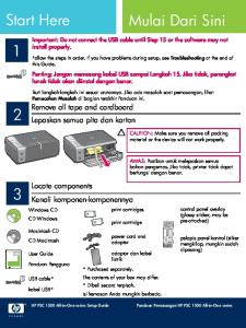 Follow the steps in order. If you have problems during setup, see Troubleshooting at the end of this Guide