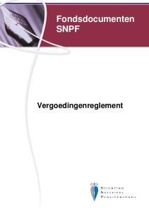 Fondsdocumenten SNPF. Vergoedingenreglement