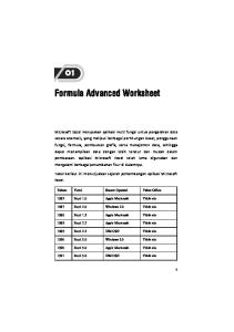 Formula Advanced Worksheet