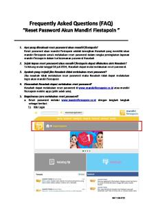 Frequently Asked Questions (FAQ) Reset Password Akun Mandiri Fiestapoin