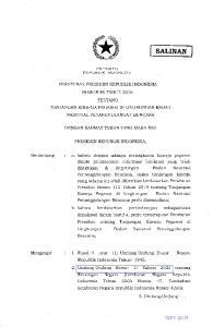 FTRESIDT-N R EPUBLIK INDONESIA TENTANG NASIONAL PENANGGULANGAN BENCANA PRESIDEN REPUBLIK INDONESIA,