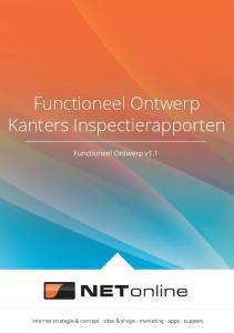 Functioneel Ontwerp Kanters Inspectierapporten
