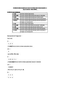 FUNGSI-FUNGSI ANALISIS DATA DAN STATISTIK PADA SCILAB (BAGIAN 1) (Syarif Abdullah: G )
