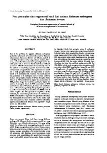 Fusi protoplas dan regenerasi hasil fusi antara Solanum melongena dan Solanum torvum