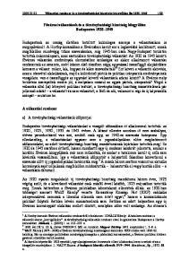 Fővárosi választások és a törvényhatósági bizottság közgyűlése Budapesten