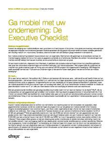 Ga mobiel met uw onderneming: De Executive Checklist