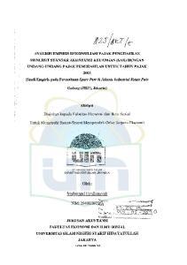 Gad1mg (JIEP), Jakarta) Skripsi. Diajukan kepada Fakultas Ekonomi dan Ilmu Sosial. Untuk Memenuhi Syarat-Syarat Memperoleh Gelar Sarjana Ekonomi