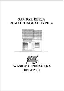GAMBAR KERJA RUMAH TINGGAL TYPE 36