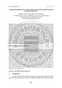 Gambaran Karakteristik dan Angka Kejadian Pasien Demam Berdarah Dengue di RS Al-Ihsan Tahun 2014