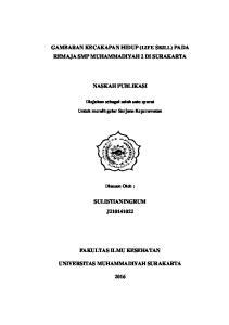 GAMBARAN KECAKAPAN HIDUP (LIFE SKILL) PADA REMAJA SMP MUHAMMADIYAH 2 DI SURAKARTA NASKAH PUBLIKASI