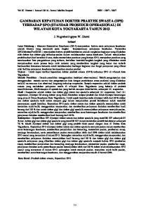 GAMBARAN KEPATUHAN DOKTER PRAKTEK SWASTA (DPS) TERHADAP SPO (STANDAR PROSEDUR OPERASIONAL) DI WILAYAH KOTA YOGYAKARTA TAHUN 2013