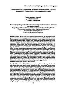 Gambaran Status Gingiva Pada Penderita Diabetes Melitus Tipe 2 Di Rumah Sakit Umum GMIM Pancaran Kasih Manado
