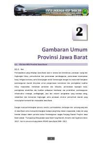 Gambaran Umum Provinsi Jawa Barat