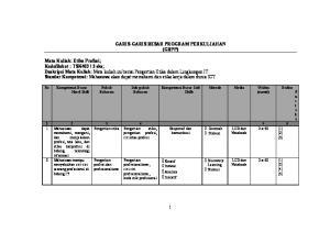 GARIS-GARIS BESAR PROGRAM PERKULIAHAN (GBPP)
