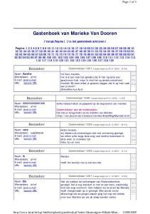 Gastenboek van Marieke Van Dooren