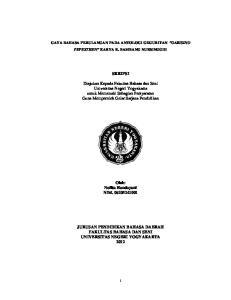 GAYA BAHASA PERULANGAN PADA ANTOLOGI GEGURITAN GARISING PEPESTHEN KARYA R. BAMBANG NURSINGGIH SKRIPSI