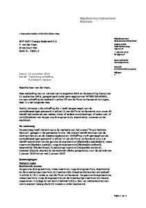 GDF SUEZ Energie Nederland N.V. F. van der Veen Grote Voort BL ZWOLLE
