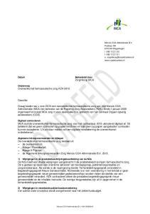 Geachte. Behandeld door Zorginkoop MCA. Onderwerp Overeenkomst farmaceutische zorg RZA 2015