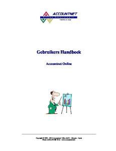 Gebruikers Handboek Accountnet Online