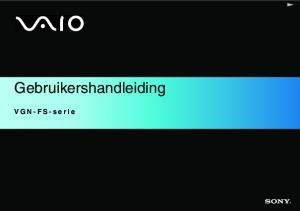 Gebruikershandleiding. VGN-FS-serie