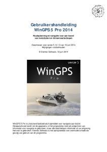 Gebruikershandleiding WinGPS 5 Pro 2014