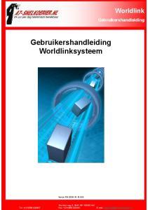 Gebruikershandleiding Worldlinksysteem