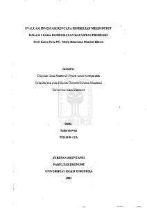 Gelar Sarjana pada Fakultas Ekonomi Jurusan Akuntansi. U11iversitas Islam Indonesia. Oleb:
