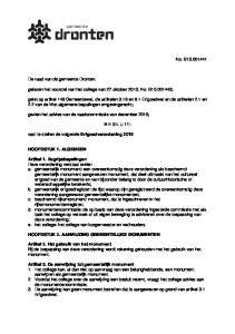 gelezen het voorstel van het college van 27 oktober 2015, No. B ;