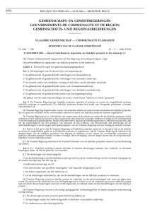 GEMEENSCHAPS- EN GEWESTREGERINGEN GOUVERNEMENTS DE COMMUNAUTE ET DE REGION GEMEINSCHAFTS- UND REGIONALREGIERUNGEN