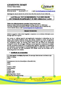 GEMEENTE ZEMST Provincie Vlaams-Brabant