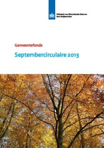 Gemeentefonds. Septembercirculaire 2013