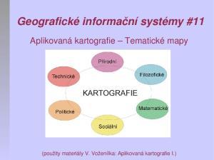 Geografické informační systémy #11