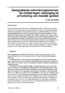 Gereguleerde ontwateringssystemen als middel tegen verdroging bij ontwatering van stedelijk gebied