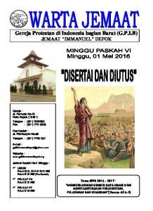Gereja Protestan di Indonesia bagian Barat (G.P.I.B) JEMAAT IMMANUEL DEPOK