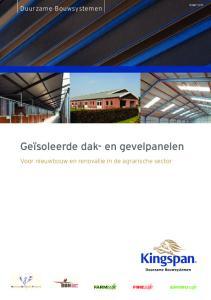 Geïsoleerde dak- en gevelpanelen