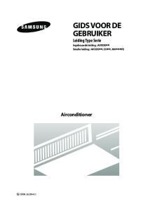 GIDS VOOR DE GEBRUIKER Leiding Type Serie Ingebouwde leiding : AVXDB Smalle leiding : AVXDS, EH, MH FE