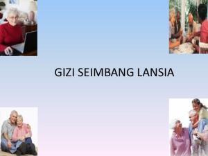GIZI SEIMBANG LANSIA