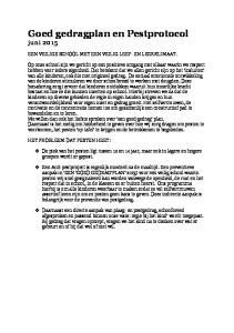 Goed gedragplan en Pestprotocol juni 2015