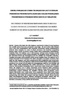 G.P. Handoko 1. Universitas Pertahanan Indonesia