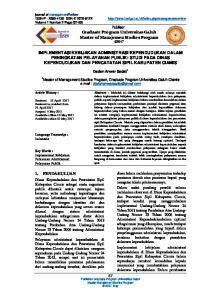 Graduate Program Universitas Galuh Master of Manajemen Studies Program