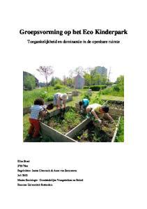 Groepsvorming op het Eco Kinderpark